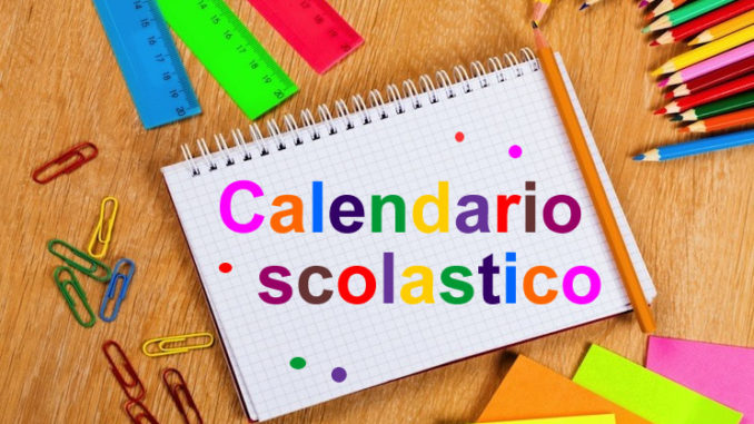 Calendario Scolastico Regionale Calabria.Calendario Scolastico 2018 2019 Istituto Comprensivo