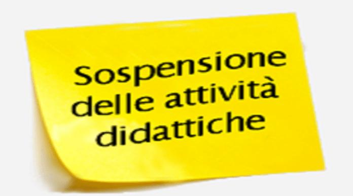 Risultato immagini per sospensione attività didattiche