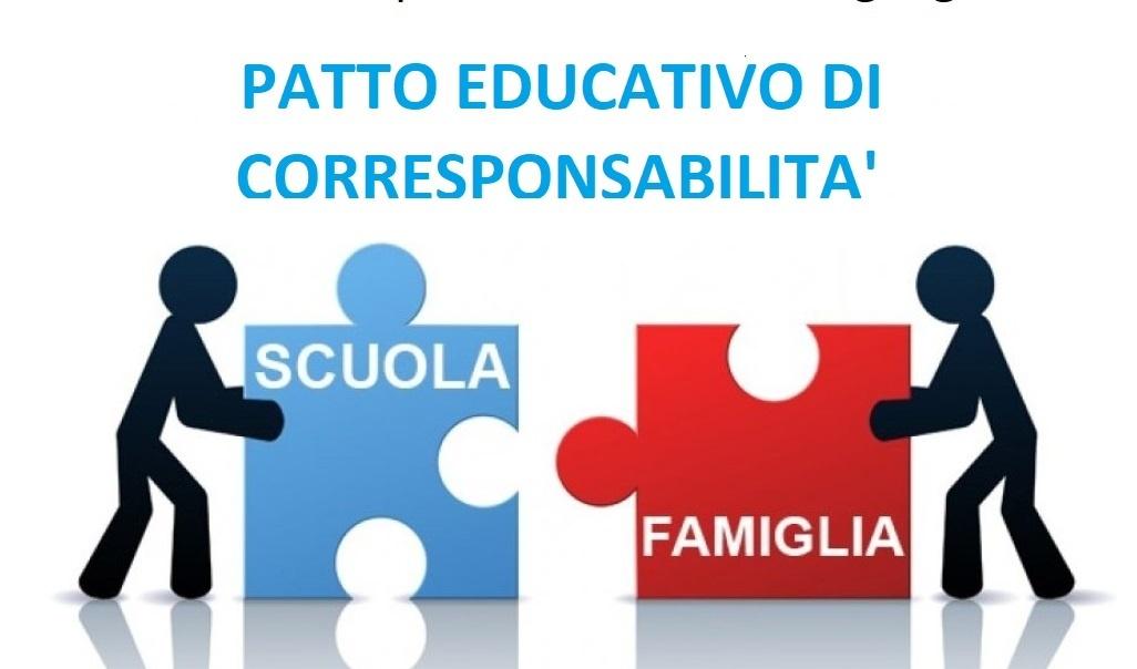 Pubblicazione Patto Educativo di Corresponsabilità